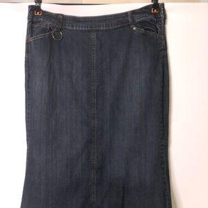 Venezia Women's plus size Modest Jean skirt